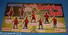 CHINTOYS cht006 NAPOLEONIC AUSTRIAN STAFF . 1/32 SCALE FIGURES. c60mm