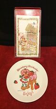 Vintage RARE STRAWBERRY SHORTCAKE Stationary Christmas Cards Santa Cookie Plate