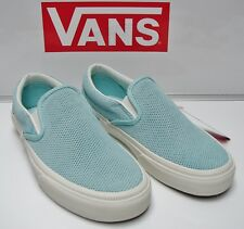 4cc937f183 Vans Classic Slip-On (Perforated Suede) BlueLight VN-0004MPJKP Women s Size