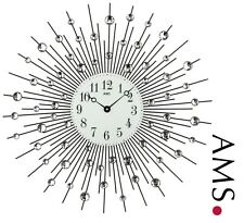 XXL Wall Clock 44 Quartz Black Living Room Metal Ø 60 cm 427