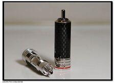 MS Audio Carbon Rhodium Plated Tellurium Copper RCA Plug 2 Pair