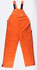 Carhartt Bib Overalls Quilt Lined Duck Orange Men Size 48x32