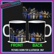 AUSTRALIA MELBOURNE  SKYLINE AT NIGHT PICTURE MUG