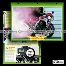 #100.11 Fiche Moto TRIUMPH 955 i SPEED TRIPLE 2000's Motorcycle Card
