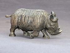 Detailed Rhinoceros Baby Bronze Rhino Art Signed Figurine Sculpture Statue Numbe