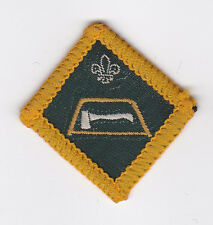 1967 UK SCOUTS - DIAMOND SHAPE SCOUT INSTRUCTOR PROFICIENCY BADGE - FORESTER