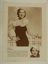 MAE CLARKE vintage sepia photo cutting 1935 , 8x10