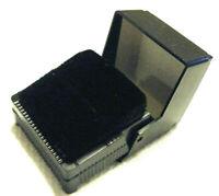 RARE VINTAGE DECO BLACK BAKELITE PLASTIC SIGND SUC MADE IN USA JEWELRY RING BOX
