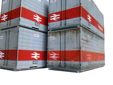 4x FREIGHTLINER 20ft NON-ISO CONTAINERS CARD KIT OO GAUGE MODEL RAILWAY AX007
