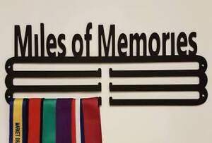 Medal Hanger Holder Display Rack MILES OF MEMORIES Steel BLACK STORE 36 MEDALS