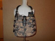 B. MAKOWSKY Leather Shopper Handbag Purse Shoulder Bag Satchel Camoflouge #1717