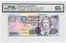 Bahamas $100 Series 2009  P 76  Series B PMG 65 EPQ Gem Uncirculated Banknote