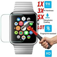 5X Premium Tempered Glass Film Screen Protector For iWatch Apple Watch 38/42mm