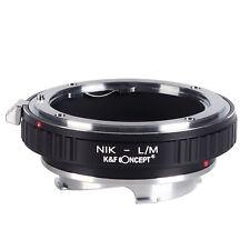 K&F Concept Nikon AI Lens To Leica M LM Mount Adapter Ring M8 M5 Nikon-L/M Metal