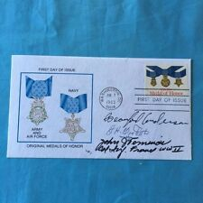 THE CONGRESSIONAL MEDAL OF HONOR: FIRST DAY LWJ ISSUE ENVELOPE: SIGNED
