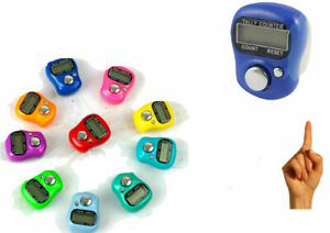 2 x Digital Finger Tally counter Clicker Tasbeeh Golf Shot Knitting Row Counter