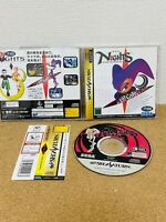 Nights Into Dreams... w/ Flyer Obi Sega Saturn 1996 From Japan USED VERY GOOD