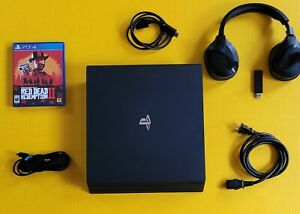 Playstation 4 pro 1tb bundle    Red Dead Redemption 2     Gold PS4 Controller.