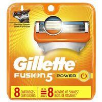 Gillette Fusion 5 power Razor Blade refills New Packs of 8 Cartridges sealed