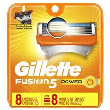Gillette Fusion 5 power Razor Blade refills New Packs of 8 Cartridges sealed