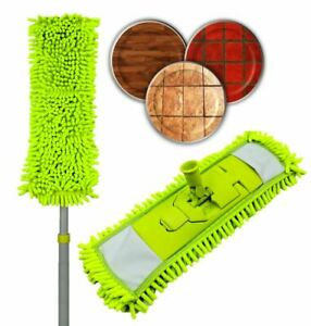 Extendable Microfibre Flat Floor Mop Noodle Duster Dry Wet Laminate Tile Cleaner