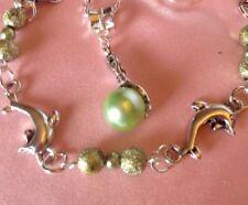 "Sterling Silber * 18"" Kette Meerjungfrau Anhänger & Armband 7.5+ EXT & Free Toe Ring."