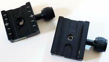 2 X Abrazaderas De Carril usado con carril de Enfoque Macro control deslizante para disparar Close-up
