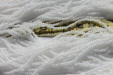 Pearl White A/B Finish 11/0 Czech Glass Seed Beads/Hank