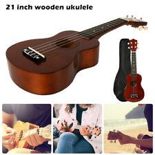 Ukulele in legno da 21 pollici Custodia+corde + accordatore + Custodia Morbida