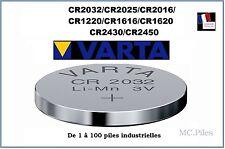 Pilas de botón 3V litio Varta, CR2032/2025/2016/1220/1616/1620/2430/2450