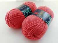Craftsy Sprightly Acrylic Worsted Yarn Pink  #044 Coral 2 Skeins 402 Yards