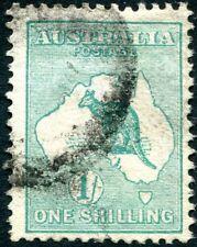 More details for australia-1913-14  1/- blue-green sg 11a good used v27682
