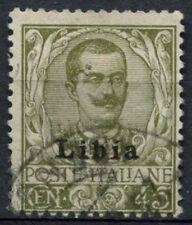 Libya Italian Colony 1917 SG#11, 45c Olive Green Used #A92499