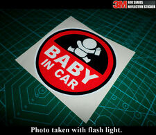 BABY IN CAR WARNING SIGN JDM Car notebook 3M Reflective Sticker #03