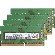 Samsung 4x 8GB 1RX8 PC4-2666V DDR4-21300Mhz 260pin Laptop RAM Memory Module Test