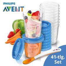 Philips AVENT 41-tlg. Becher Set: 10x 180ml, 10x 240ml, 20 Deckel, 1 Esslöffel