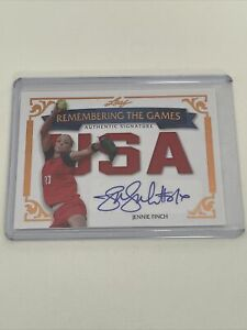 2012 Leaf - Remember The Games Olympics Autograph - Jennie Finch