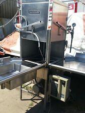 Hobart Am14 C Dishwasher Unit W/ Clean & Dirty Tables