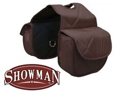 Showman BROWN Insulated Quilted Nylon Western Horn Bags!! NEW HORSE TACK!!