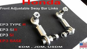 Honda Civic EP3 Hatch Adjustable Front Sway End Links Type R SIR Si EDM JDM USDM