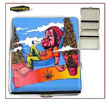 Smoking Man Cigarette Case Tobacco Roll Ups Metal Holder Rasta Storage Pocket UK