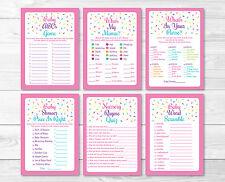 Pink Baby Sprinkle Baby Shower Games Pack - 6 Printable Games