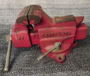 """Vintage Craftsman No. 506-51801 Swivel Bench 3-1/2"""" Vise w/ Anvil"""