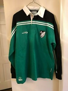 New Men's The Lansdowne Collection Green Long Sleeve Rugby Shirt Size Medium
