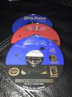 Harry Potter World Cup Chamber Of Secrets Goblet Of Fire GameCube Discs Only Lot