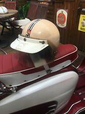 Kangol casco Vintage Crema Blanca casco de cara abierta Raro