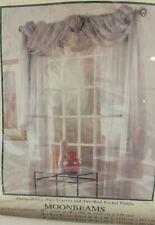 """New Purple Moonbeams Window Scarf Curtain Panel  45.5""""W x 84"""" L"""