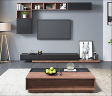 Modern L Style TV Unit or Matched Colour Pop-Up Multi Space Coffee Table