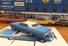 Papercraft 1973 Plymouth Fury III 4dr hardtop Blue EZU-make Paper Model Car