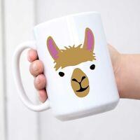 Llama Big Animal Face Cute Funny Ceramic Coffee Mug Tea Cup Fun Novelty Gift